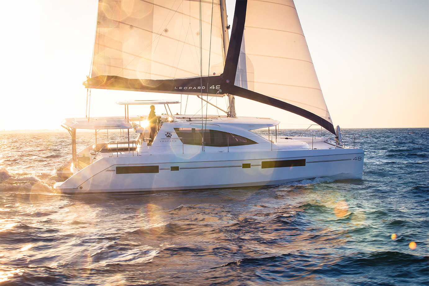 Leopard 48 Catamaran Sailing Photography