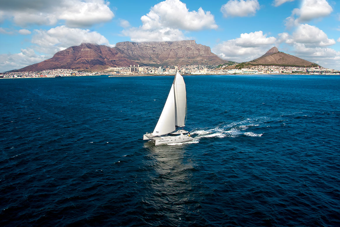 Nexus 60 Catamaran Sailing Photography
